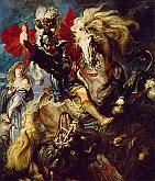 Lucha de San Jorge con el Dragón
