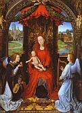 Madonna y Niño con dos Ángeles