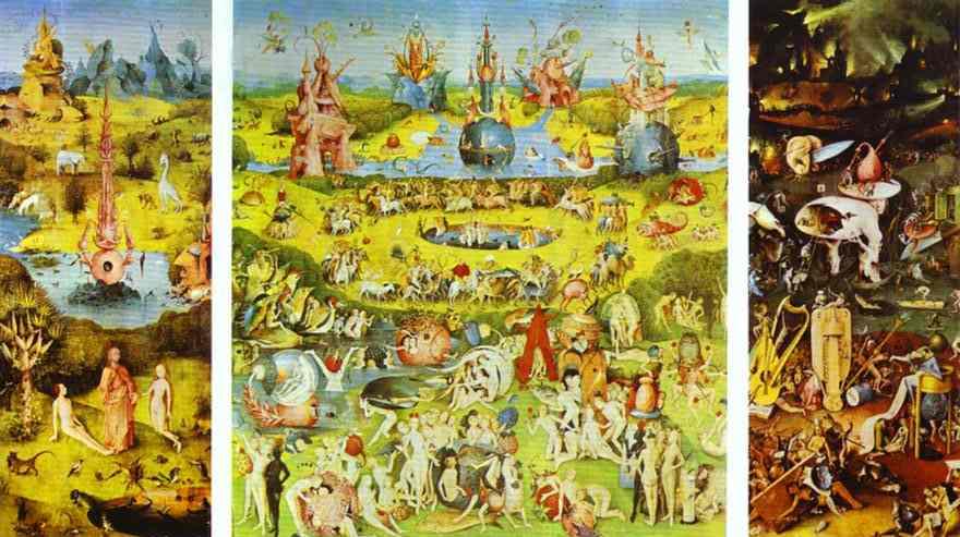 Triptico del jardin de las delicias el bosco for El jardin de las delicias significado